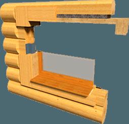 Обсада «в колоду» из клееного лафета