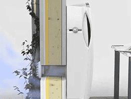 Установка стенового проветривателя