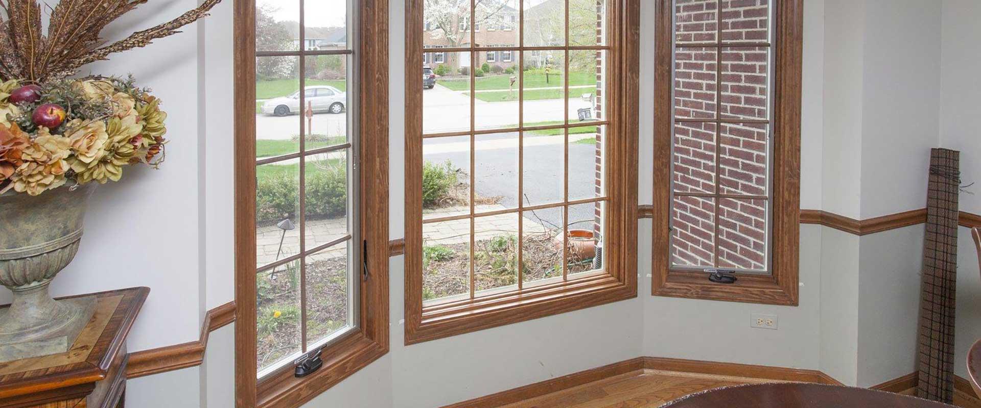 Деревянное окна из ясеня