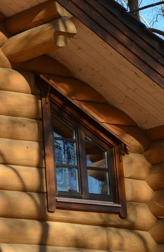 Деревянные окна трапеция