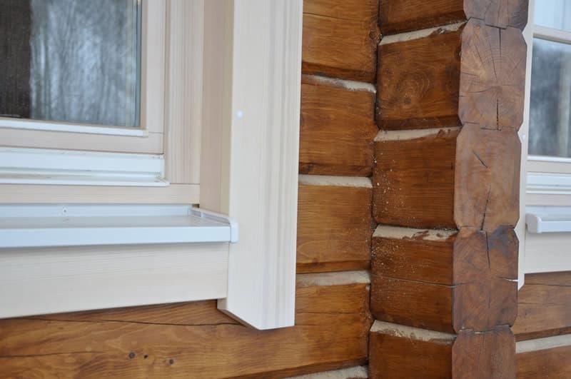 Деревянная обсада для деревянных окон от производителя