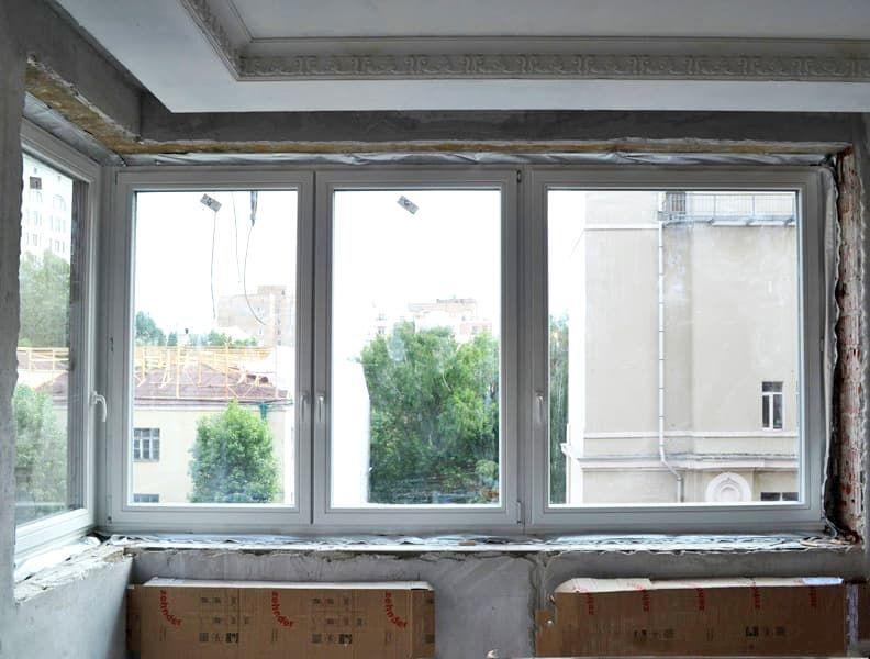 Створки очень большого размера в деревянных окнах