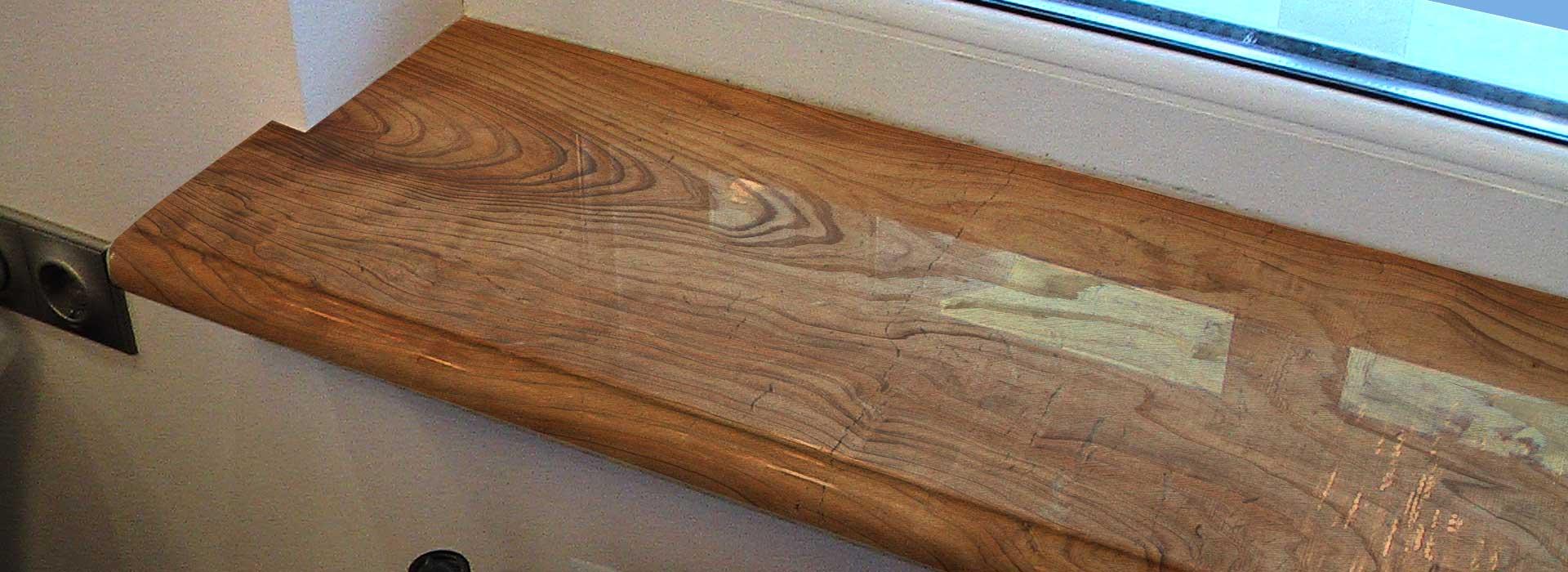 Деревянные подоконники для окон из дерева