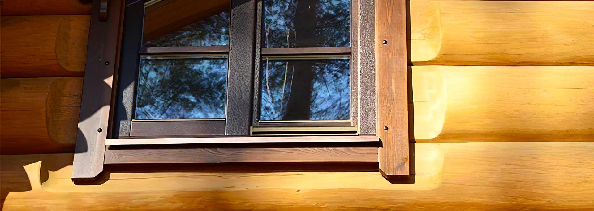 Окна из экзотических пород дерева