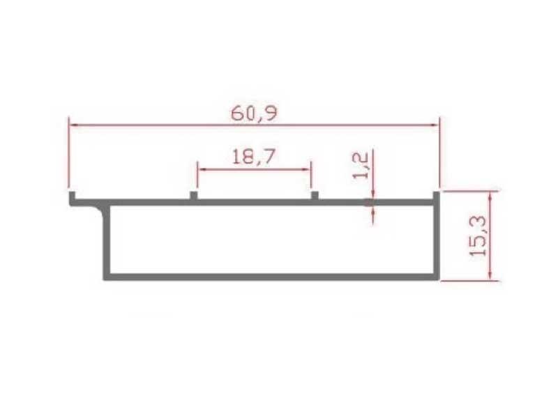 RS 104 - боковой пристеночный профиль 3х