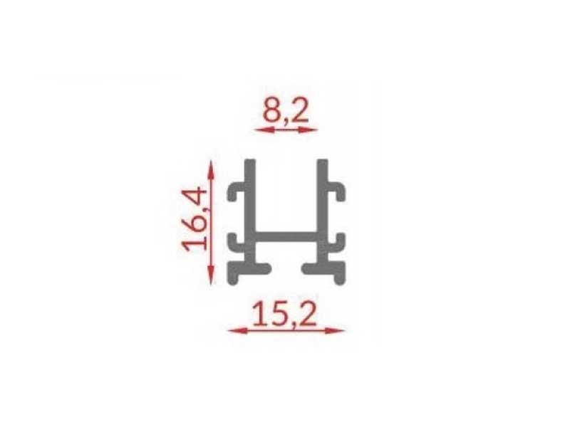 RS 112 - створочный профиль 8 мм
