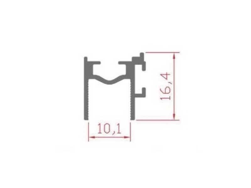 RS 113 - верхний створочный профиль 10 мм