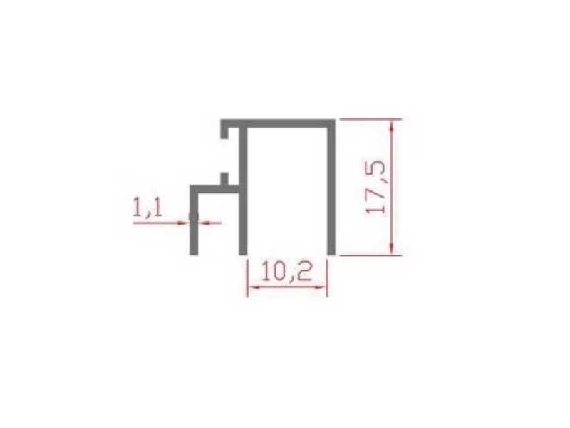 RS 116 - межстворочный профиль 10 мм