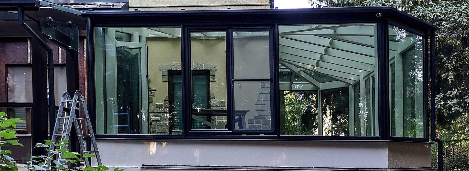 Фасады - стеклянная стена