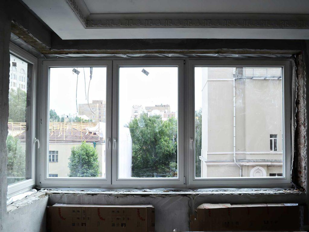 Установлены деревянные окна польского производства