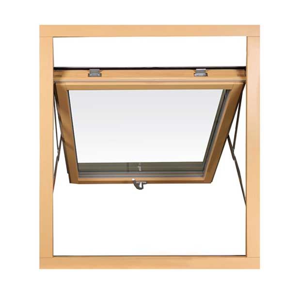 мансардное окно деревянное открыто