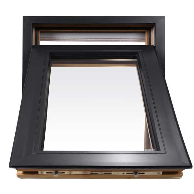 мансардное окно черное открыто