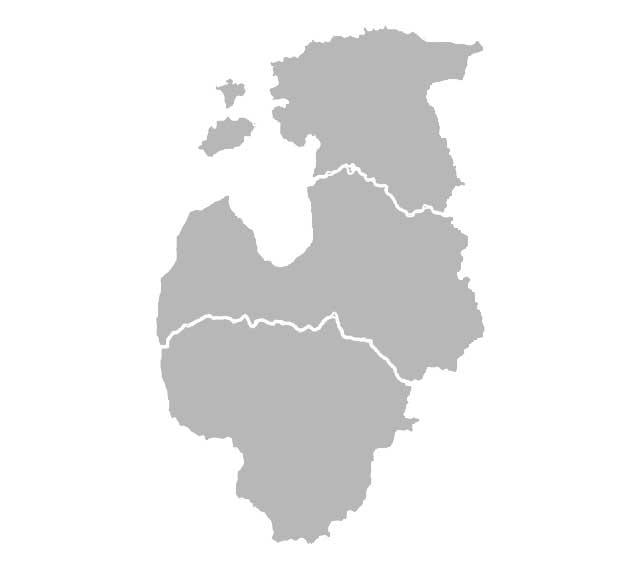карта прибалтики