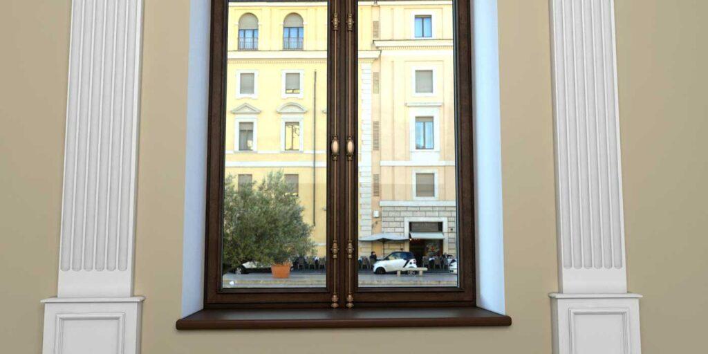 элитное окно с кремоном