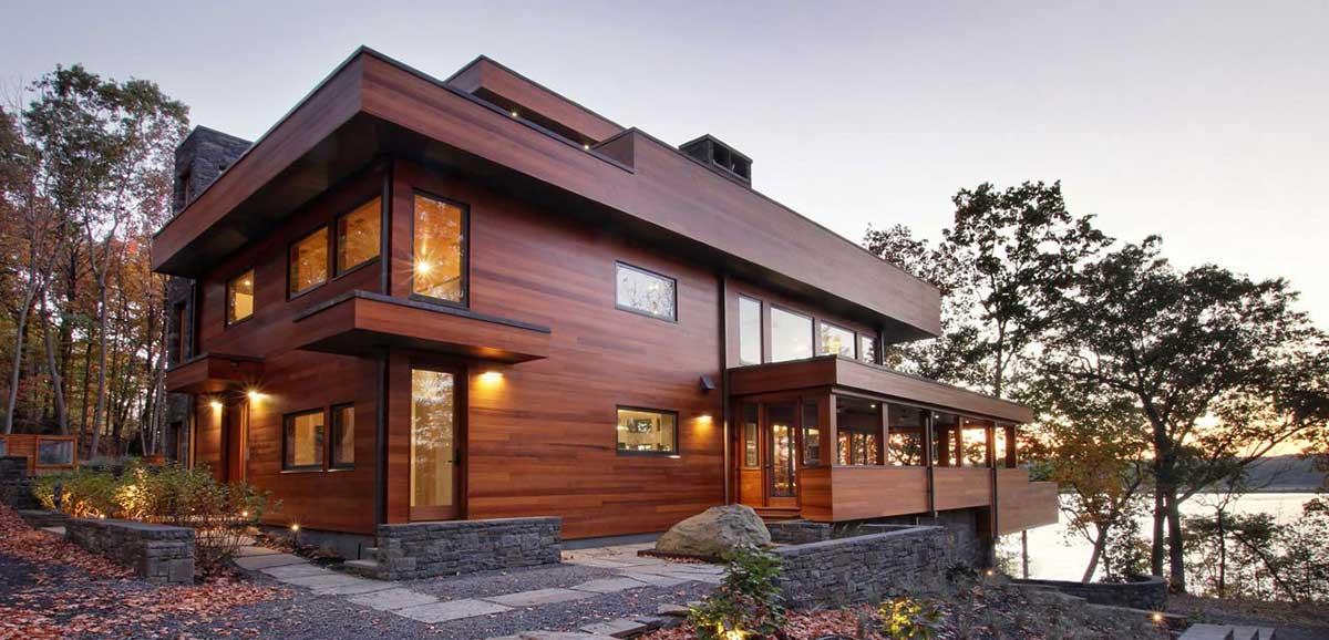 деревянный брусовый дом