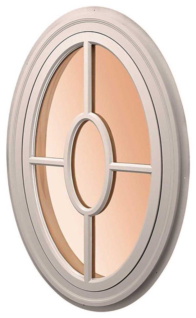 овальное окно крест с кругом